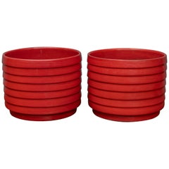 US Pottery of Paramount Ring or Ribbed Planters