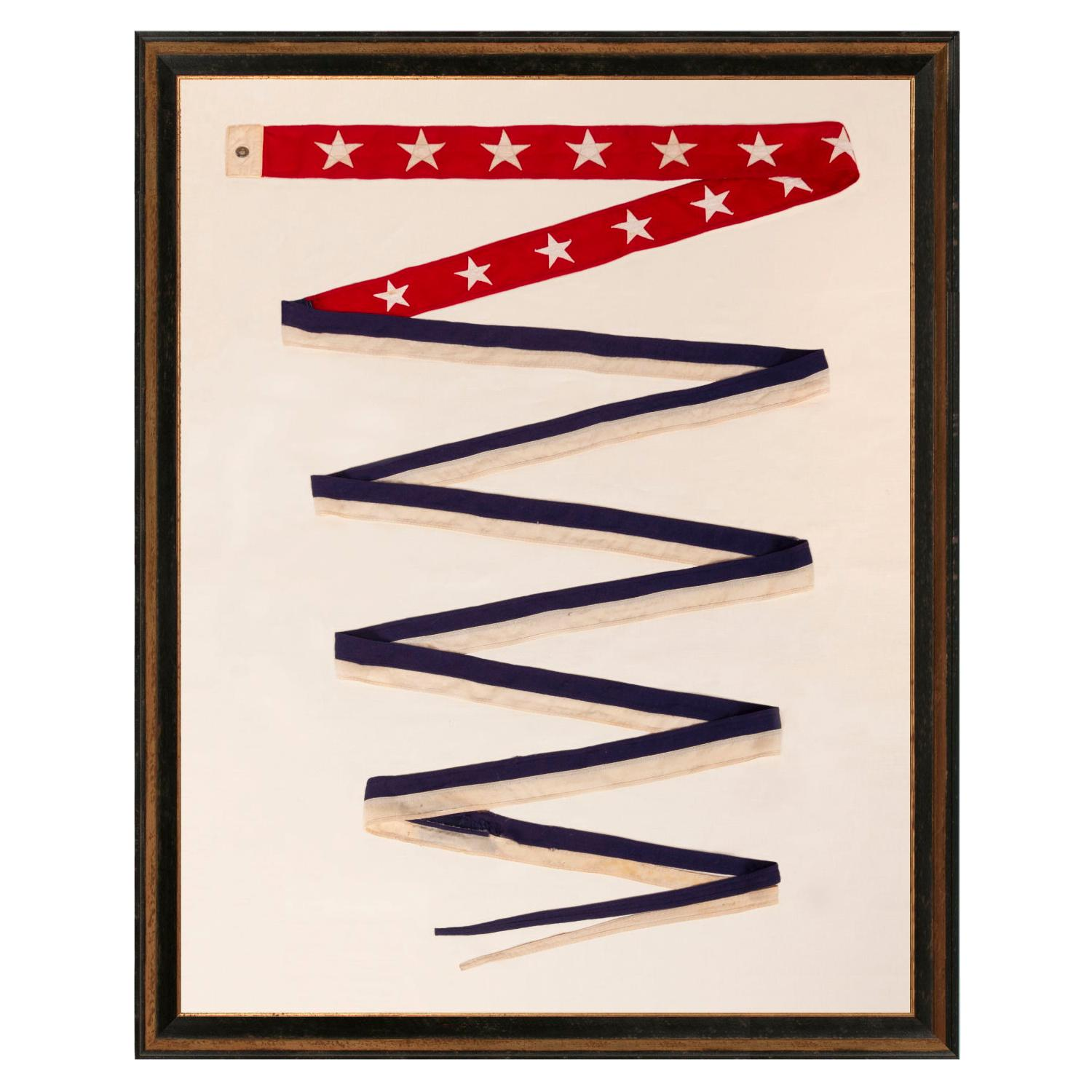 U.S War Department Commissioning Pennant with 13 Stars