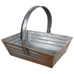 Useful Metal Trugs or Trays with Handles, 20th Century