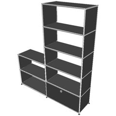 USM Anthracite Open Shelving Unit