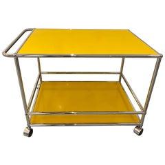 USM Golden Yellow Serving cart Designed by  Fritz Haller and Paul Schaerer
