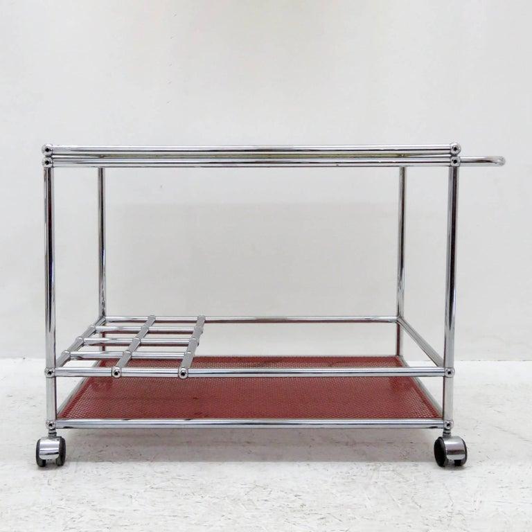 Modern USM Haller Bar Cart For Sale