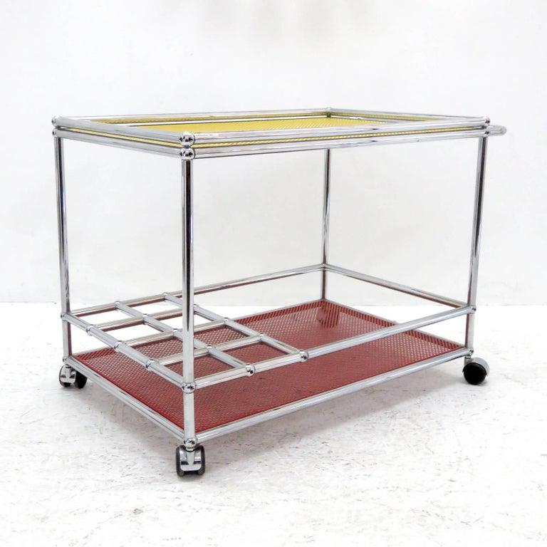 German USM Haller Bar Cart For Sale