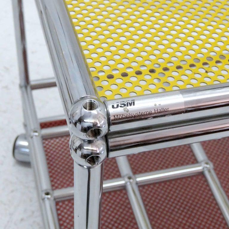 Chrome USM Haller Bar Cart For Sale