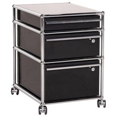 USM Haller Metal Chrome Sideboard Anthracite Roll Container Office Furniture