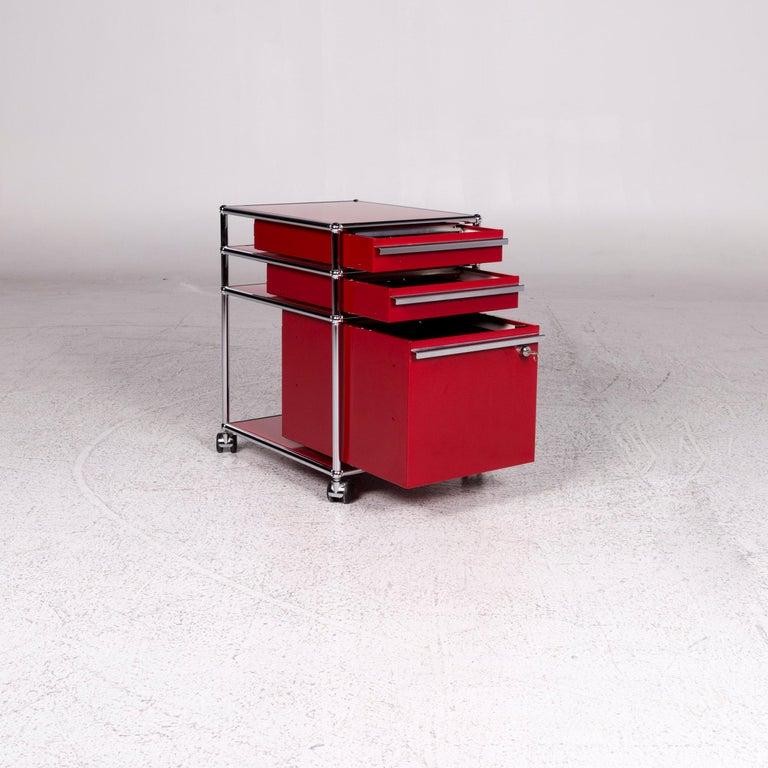 USM Haller Metal Container Red Sideboard Rolls For Sale 4