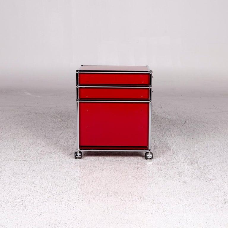 USM Haller Metal Container Red Sideboard Rolls For Sale 5