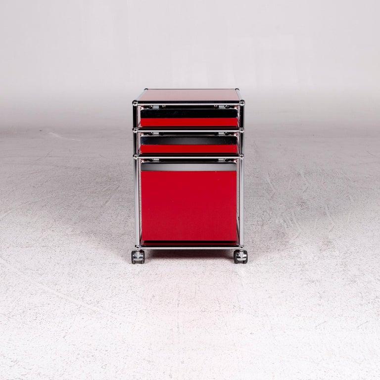 USM Haller Metal Container Red Sideboard Rolls For Sale 6