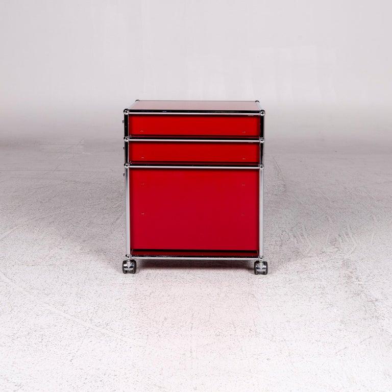 USM Haller Metal Container Red Sideboard Rolls For Sale 7