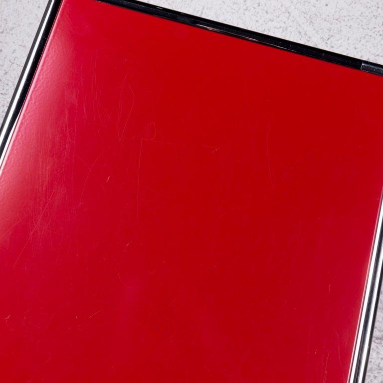 German USM Haller Metal Container Red Sideboard Rolls For Sale