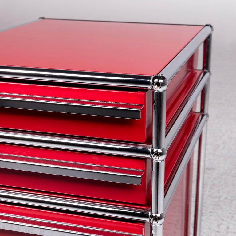 USM Haller Metal Container Red Sideboard Rolls For Sale 1