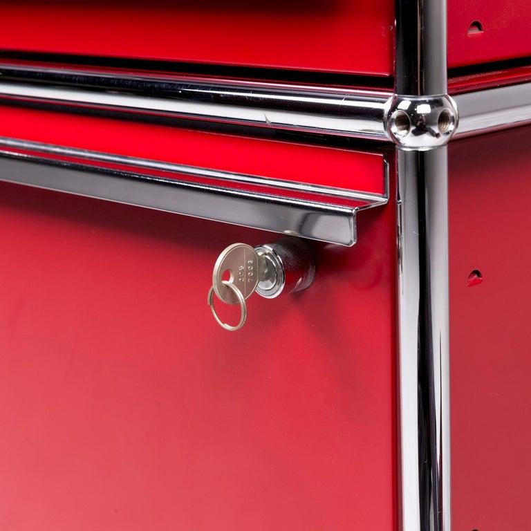USM Haller Metal Container Red Sideboard Rolls For Sale 2