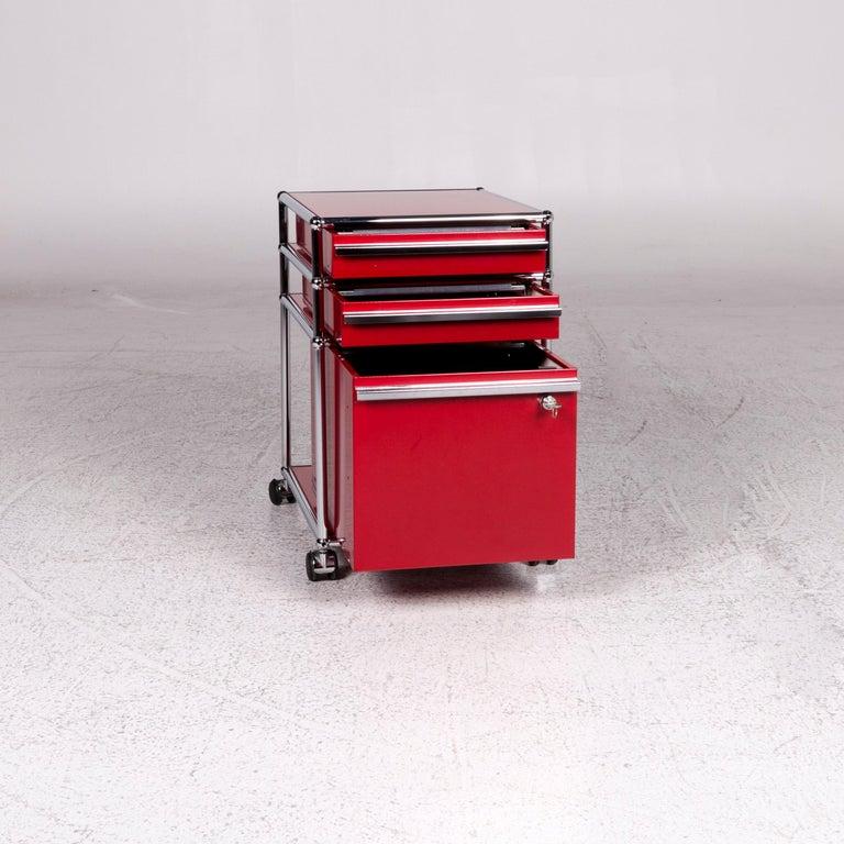 USM Haller Metal Container Red Sideboard Rolls For Sale 3