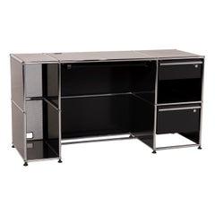 USM Haller Metal Desk Black 2x Drawer