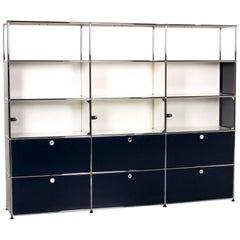 Usm Haller Metal Glass Shelf Blue White Sideboard Office Furniture