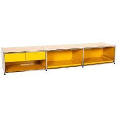 USM Haller Metal Lowboard Yellow Office Furniture Modular Sideboard
