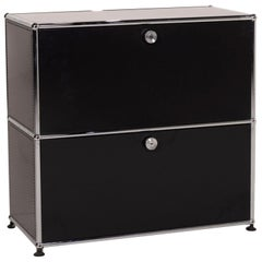 Usm Haller Metal Sideboard Black 1x2 Compartments Office Cabinet