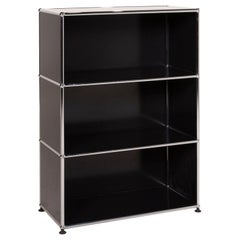 USM Haller Metal Sideboard Black 1x3 Shelf Compartment Office