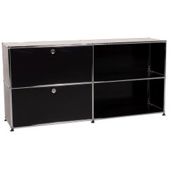 USM Haller Metal Sideboard Black Highboard Drawer Shelf Compartment Office
