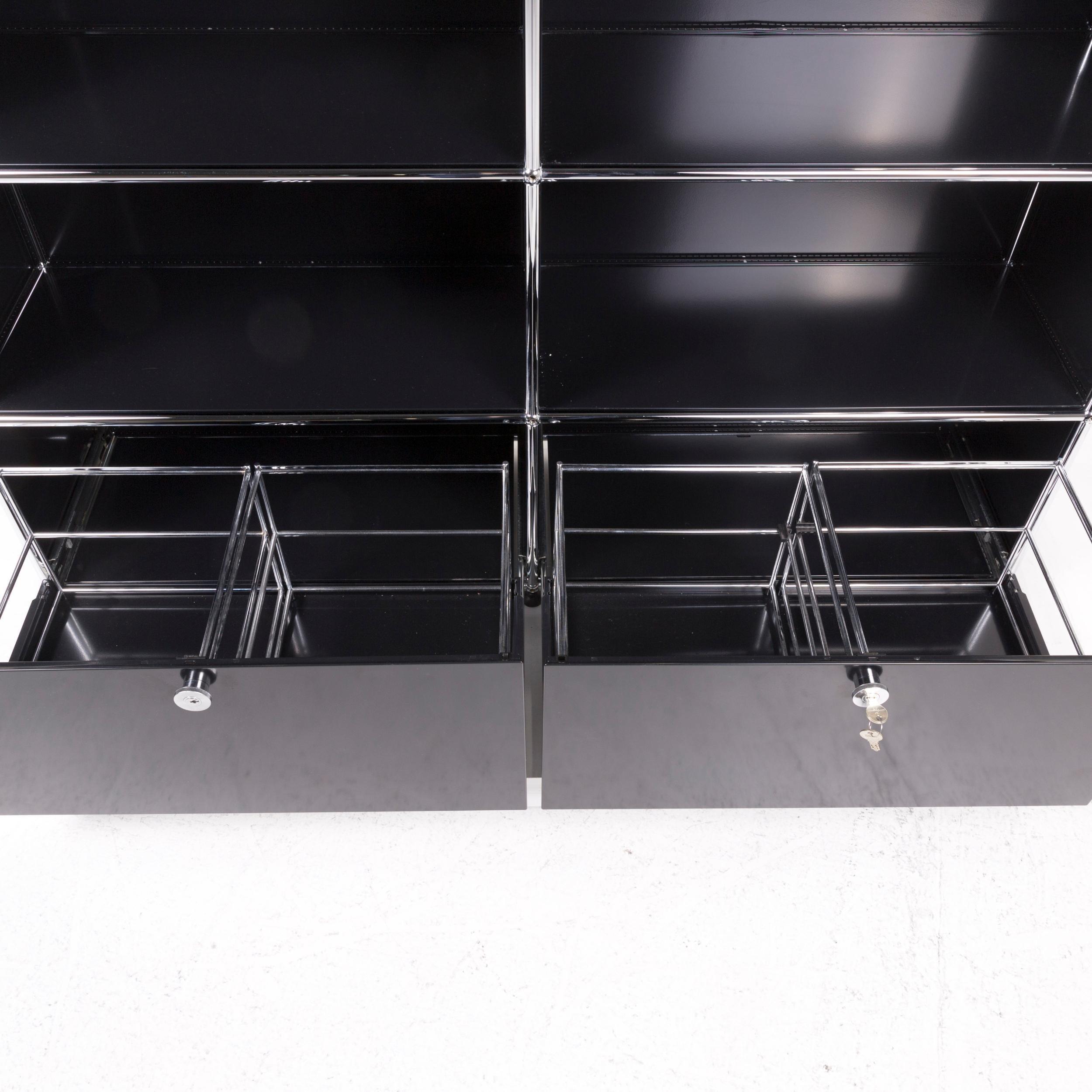 Usm Haller Metal Sideboard Black Shelf Office At 1stdibs