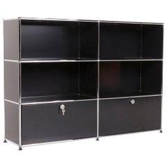 USM Haller Metal Sideboard Black Shelf Office