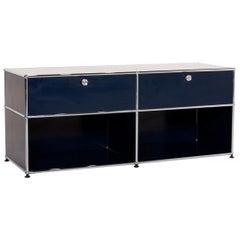 USM Haller Metal Sideboard Blue Dark Blue Cabinet Office Furniture