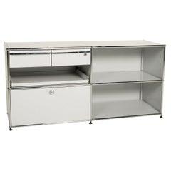 Usm Haller Metal Sideboard Gray Light Gray 2x2 Incl. Drawer Shelf Office