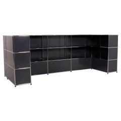 USM Haller Metal Sideboard Gray Modular Counter Office Shelf Highboard