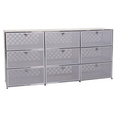 USM Haller Metal Sideboard Gray Silver Office
