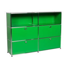 USM Haller Metal Sideboard Green Office Shelf