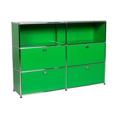 Usm Haller Metal Sideboard Green Shelf Office Furniture