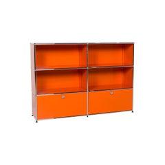 USM Haller Metal Sideboard Orange Shelf Office