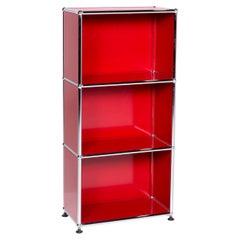 USM Haller Metal Sideboard Red Shelf Office Furniture
