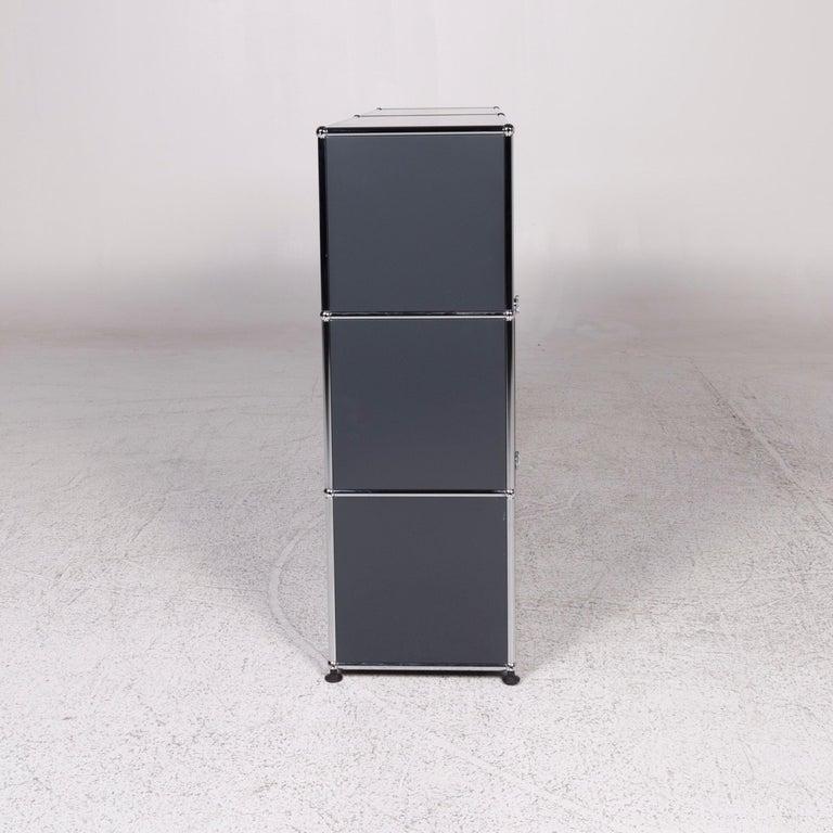 USM Haller Metal Sideboard Shelf Gray 4 Drawers For Sale 4