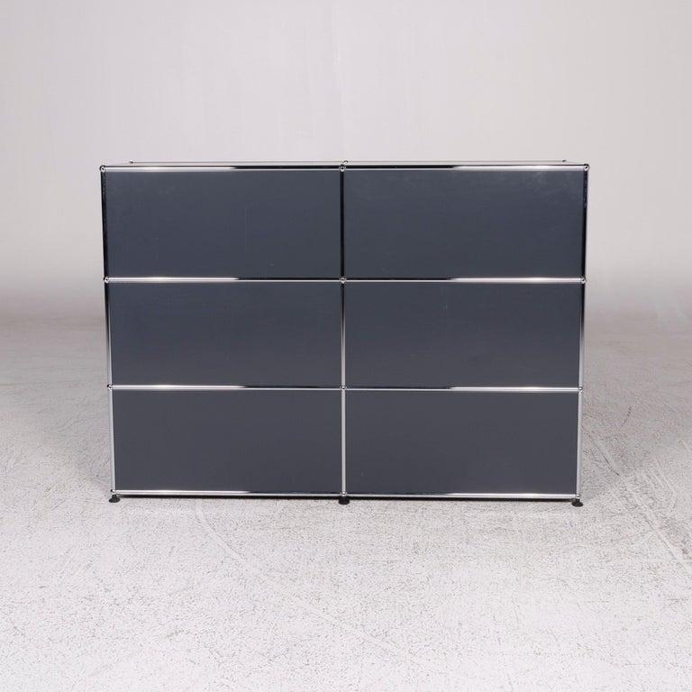 USM Haller Metal Sideboard Shelf Gray 4 Drawers For Sale 5