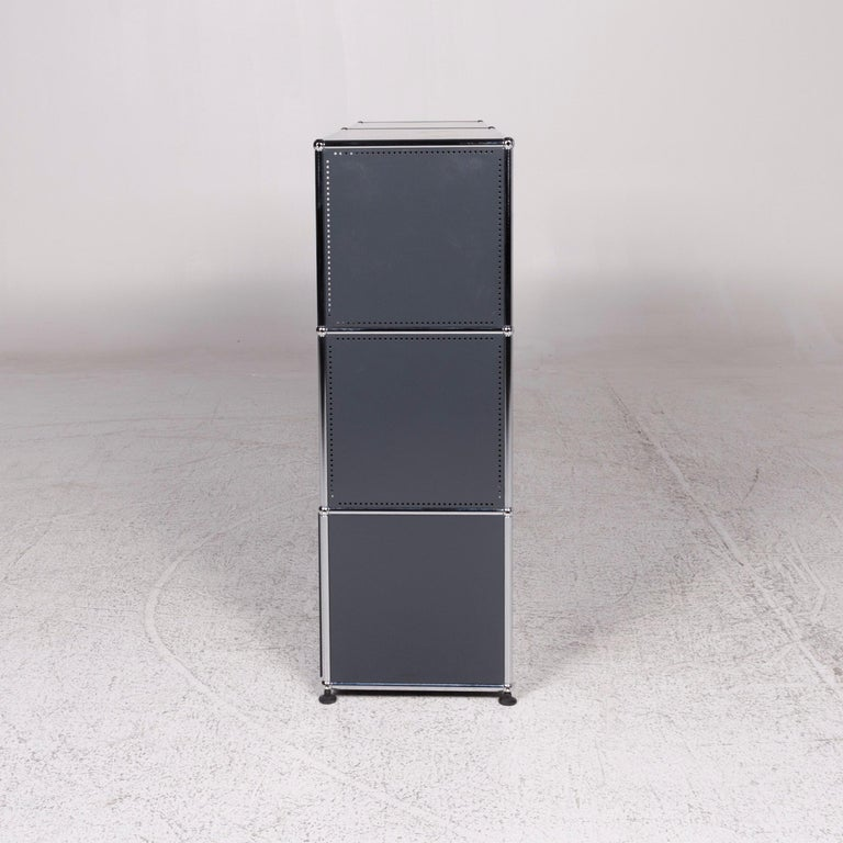 USM Haller Metal Sideboard Shelf Gray 4 Drawers For Sale 6
