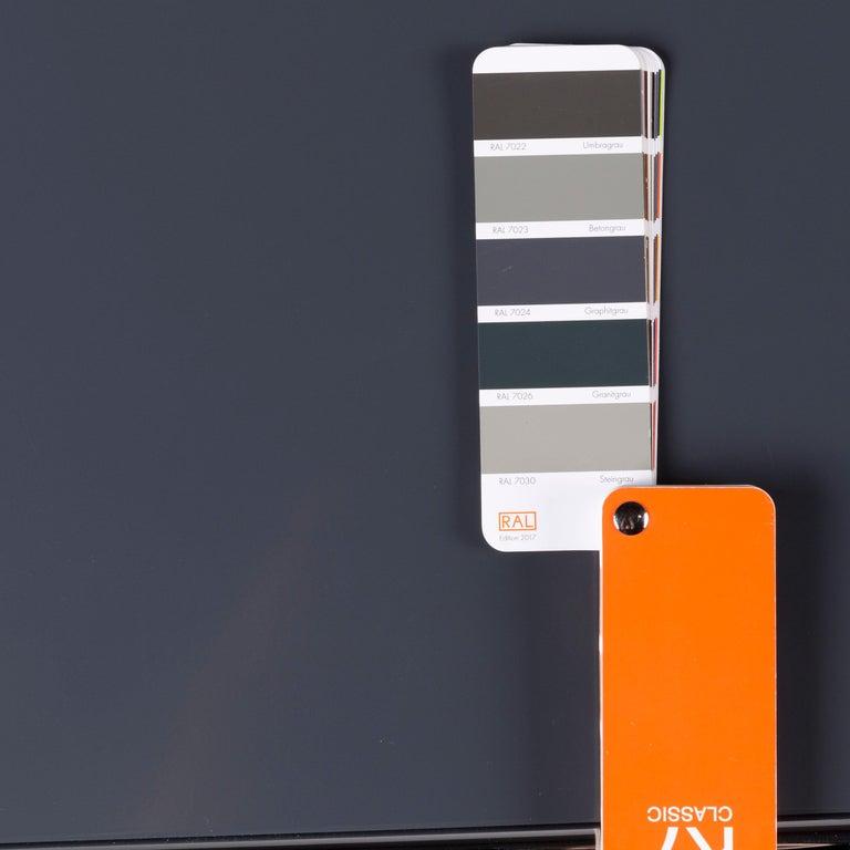 Contemporary USM Haller Metal Sideboard Shelf Gray 4 Drawers For Sale