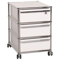 Usm Haller Metal Sideboard White Roll Container Cabinet Office Chrome
