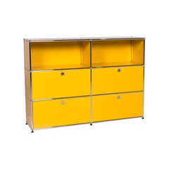 Usm Haller Metal Sideboard Yellow Shelf Office Furniture