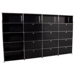 USM Haller Metal Wall Unit Black Shelf 4x5 Compartments Office