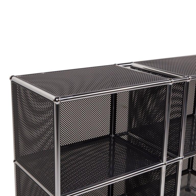 Modern USM Haller Sideboard Black Highboard Shelf Compartment Office