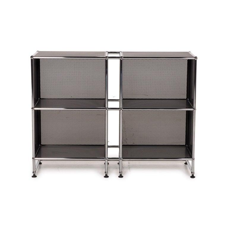 Contemporary USM Haller Sideboard Black Highboard Shelf Compartment Office