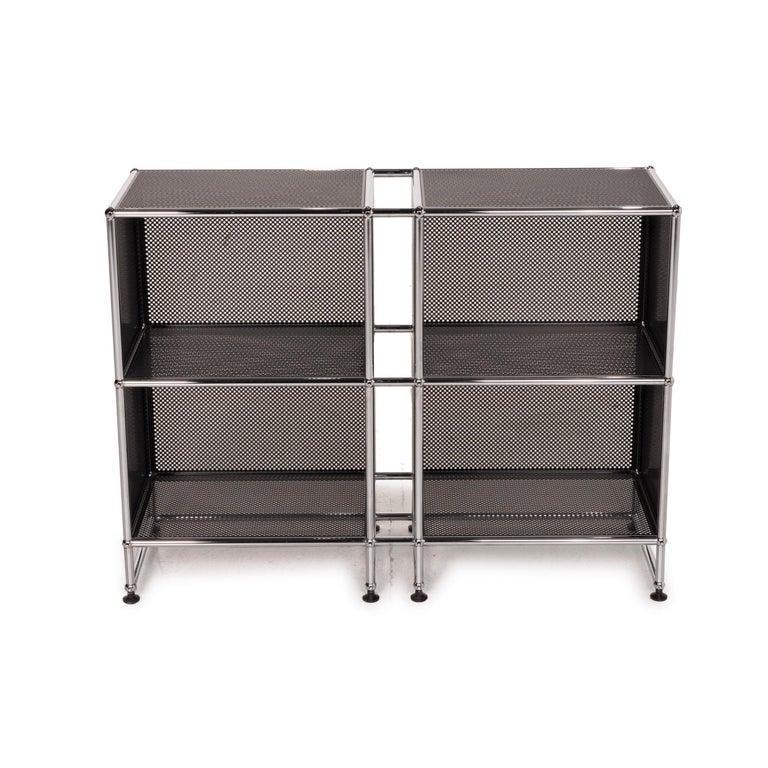 Metal USM Haller Sideboard Black Highboard Shelf Compartment Office