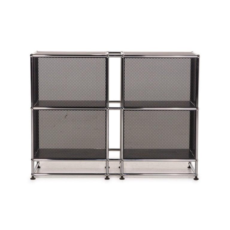 USM Haller Sideboard Black Highboard Shelf Compartment Office 2