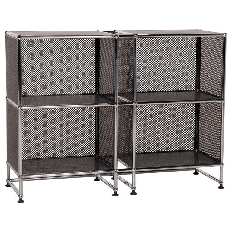 USM Haller Sideboard Black Highboard Shelf Compartment Office