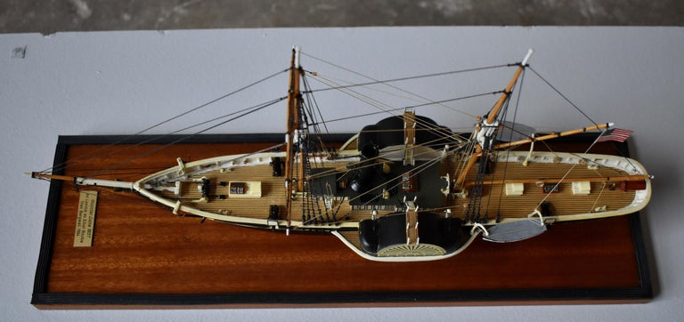 Victorian USRC Harriet Lane '1857' Model in Wood, 1:144, Sten Bergwall, 1994 For Sale