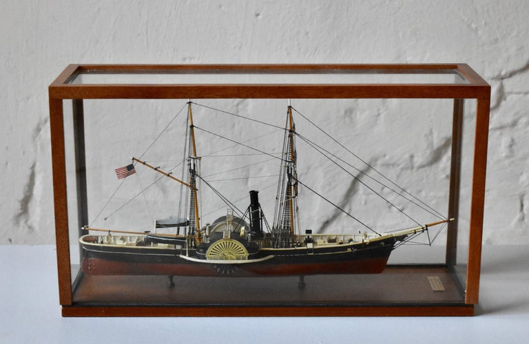 Late 20th Century USRC Harriet Lane '1857' Model in Wood, 1:144, Sten Bergwall, 1994 For Sale
