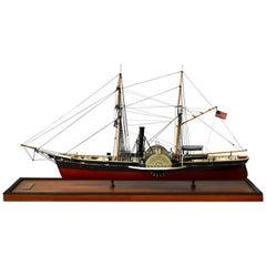 USRC Harriet Lane '1857' Model in Wood, 1:144, Sten Bergwall, 1994