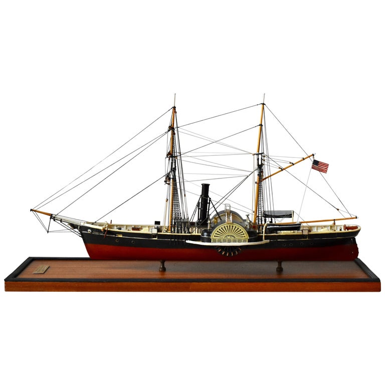 USRC Harriet Lane '1857' Model in Wood, 1:144, Sten Bergwall, 1994 For Sale