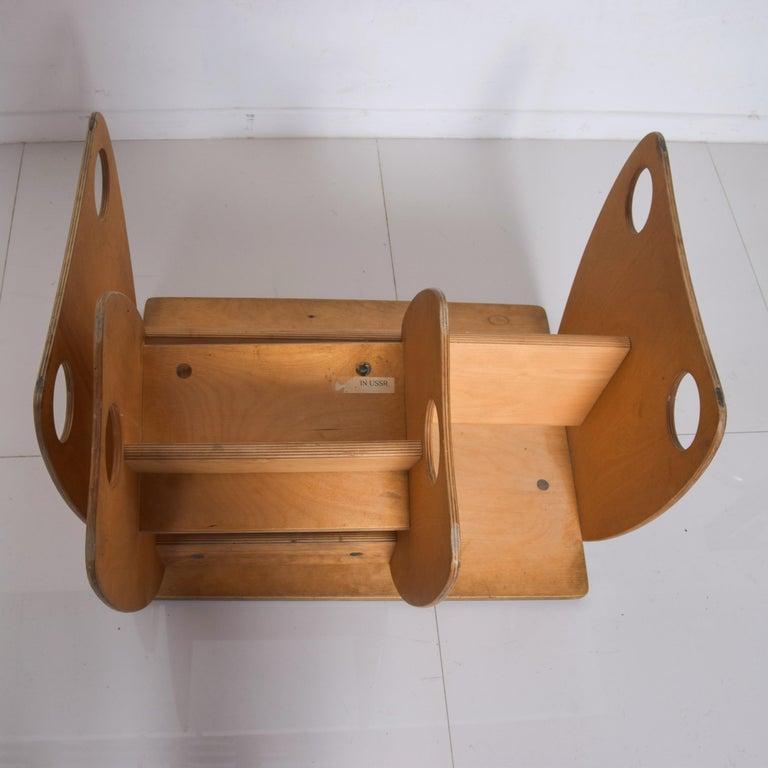 Plywood USSR Child School Desk Set Table & Chair by Hans Mitzlaff & Albrecht Lange 1960s For Sale